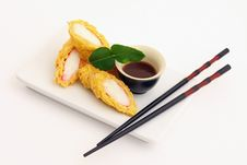 Free Rolls With White Fish Stock Photos - 13832093