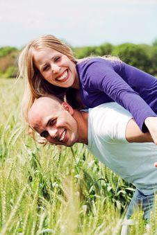 Embracing Lovely Lovers Having Fun Stock Image