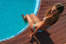 Free Beautiful Woman By Swimming Pool Stock Image - 13833011