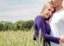 Portrait Of Loving Young Couple Royalty Free Stock Photos