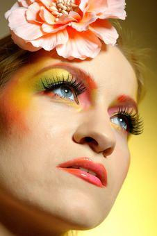 Free Summer Fashion Woman With Creative Eye Make-up Stock Photos - 13833503