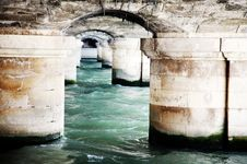 Free Bridge Detail Over The Seine In Paris Royalty Free Stock Photography - 13833527