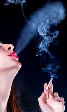 Free Woman With Cigarette Stock Images - 13833644
