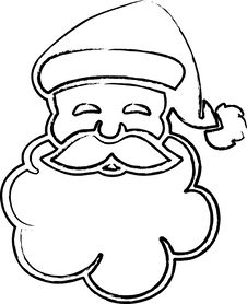 Free Santa Claus Face Royalty Free Stock Images - 13833809