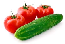 Free Tomatoes And Cucumber Royalty Free Stock Photography - 13834967