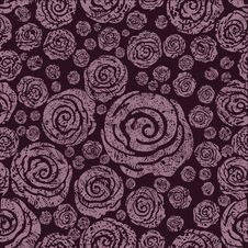 Free Vector Seamless Grunge Rose Pattern Royalty Free Stock Images - 13835109