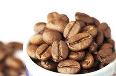 Free Cup Of Coffee Beans Royalty Free Stock Images - 13835239