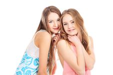 Free Two Pretty Girls Stock Photo - 13835640