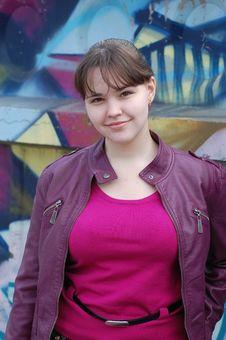 Free Teen Girl And Graffiti Royalty Free Stock Photo - 13836045