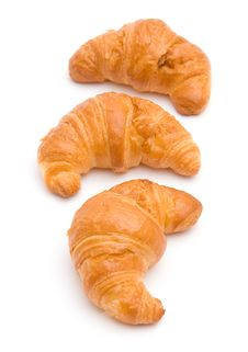 Free Three Croissants Royalty Free Stock Images - 13836489