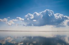 Free Calm Water With Clouds Stock Image - 13836571