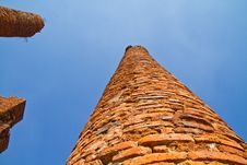 Free The Ancient Brick Column In Ayutthaya Stock Photo - 13836790