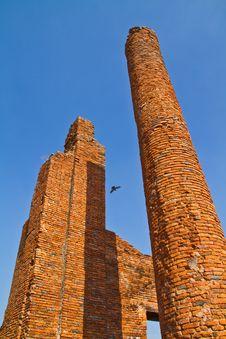 Free The Ancient Brick Column In Ayutthaya Stock Image - 13836841