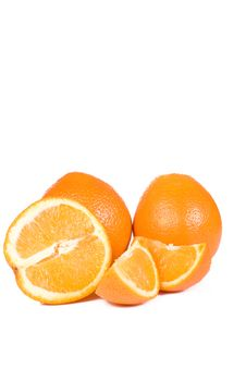 Yellow Orange On White Stock Images