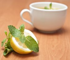 Free Tea With Mint And Lemon Stock Photography - 13837642