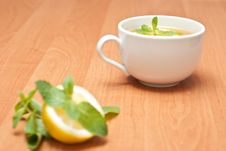 Free Tea With Mint And Lemon Royalty Free Stock Image - 13837716