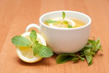 Free Tea With Mint And Lemon Royalty Free Stock Photo - 13837735