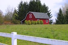 Free A Red Barn In A Country. Stock Photo - 13837830