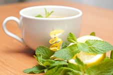 Free Tea With Mint And Lemon Stock Image - 13837911