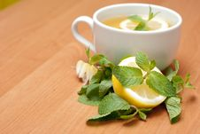 Free Tea With Mint And Lemon Stock Images - 13837964