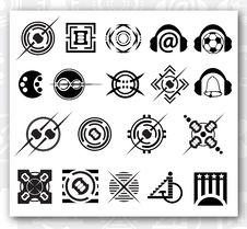 Free Logo Black On White Stock Photo - 13837980