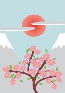 Free Japanese Style Illustration Royalty Free Stock Images - 13838029