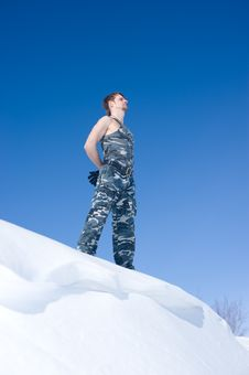 Free Man In Camouflage Clothing Royalty Free Stock Photo - 13838085