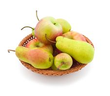 Free Apples And  Pears Royalty Free Stock Photos - 13838528