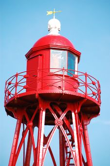 Free Den Oever Lighthouse Royalty Free Stock Image - 13838596