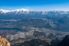 Free Aerial View Of Trento Valley Royalty Free Stock Images - 13838849