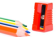 Free Red Sharpener Stock Photography - 13838932