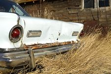 Free Rear End Of An Abandoned Car Stock Photos - 13839193