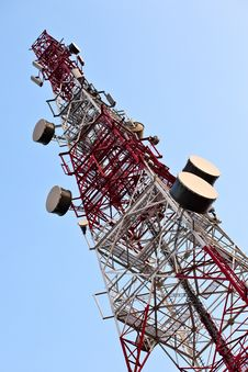 Telecommunication Tower. Royalty Free Stock Photos