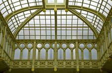Elaborate Metal Ceiling In Neo-Renaissance Style Stock Images
