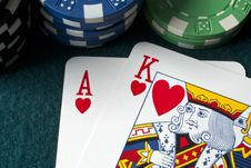 Free Playing Cards, Ace King Stock Photo - 13839930