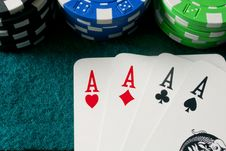 Free Poker Of Aces Stock Photo - 13839940