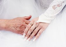 Hand In Hand Royalty Free Stock Photography