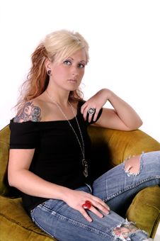 Free Tattoed Woman 10 Royalty Free Stock Photography - 13841697