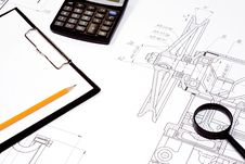 Calculator And Office Accessories Stock Images