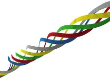 Free Colorful Ribbons Royalty Free Stock Photography - 13842367