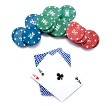 Free Chips Of Poker And Playing Cards Royalty Free Stock Photos - 13842878