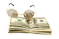 Free 100$ Banknoty And Glasses Royalty Free Stock Images - 13843189