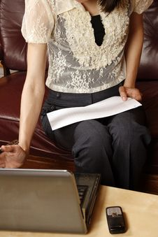 Successful Businesswoman Working Stock Photography