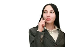 Free Woman Listening On The Phone Royalty Free Stock Images - 13844039