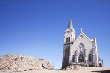 The Desert Church Royalty Free Stock Photo