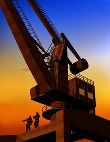 Free The Building Crane Royalty Free Stock Photos - 13845528