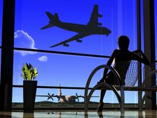 Free The Airport Royalty Free Stock Photography - 13845547