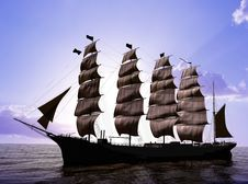Free The Ancient Ship Royalty Free Stock Photography - 13845557