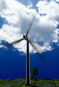 Free Energy Of Wind Stock Image - 13845561