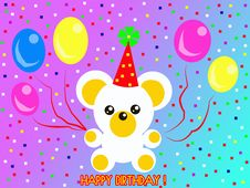 Happy Birthday Teddy Bear Royalty Free Stock Photography